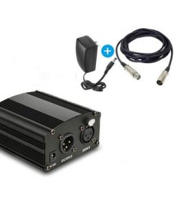 Phantom Power 48V Τροφοδοτικό ενίσχυσης μικροφώνου με καλώδιο XLR - FA23 LEIHAO