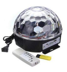 LED Περιστρεφόμενο φωτορυθμικό με κοντρόλ,ηχείο,MP3 player, USB,SDcard 18W02 OEM