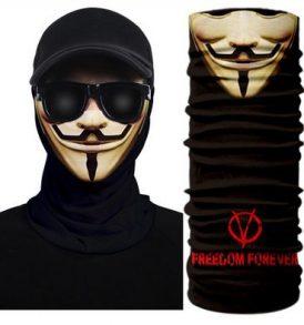 Μπαλακλάβα Anonymous μάσκα λαιμού με κόμικ φιγούρα Guy Fawkes  - VFV0201 OEM