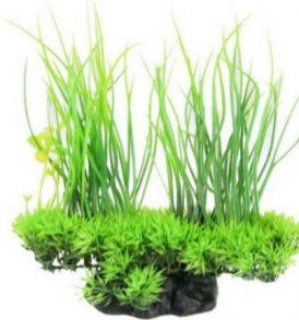 Διακοσμητικό φυτό ενυδρείου 3 green mix Aquaruim plants plastic - GRM03 OEM