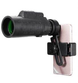 Μονόκυαλο 35X50 επενδυση καουτσουκ,κλιπ για τηλέφωνο και βίδα τριποδιου - ΕΖ02 PANDA