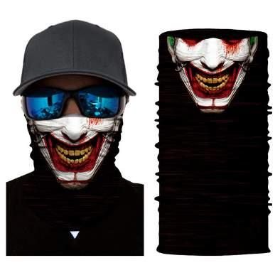 Μπαλακλάβα unisex, μάσκα λαιμού με φιγούρα Scary Smile Clown - SSC40736 OEM