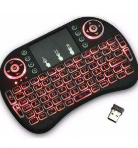 Ασύρματο touchpad mini πληκτρολόγιο με φωτισμό keyboard remote control - KB750W ELEMENT