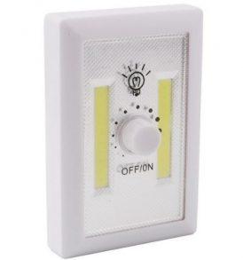 2 Χ COB Led φώτα νύχτας με μπαταρία για ντουλάπες / γκαράζ / κάμπινγκ με Dimmer - OEM