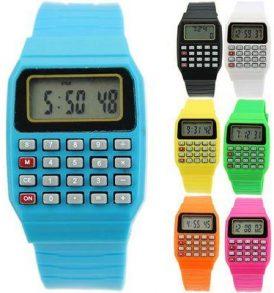 Ρολόι κομπιουτεράκι αριθμομηχανή με ημερομηνία σε διάφορα χρώματα - HJQ4 OEM