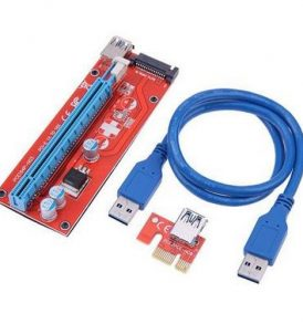 USB 3.0 PCI-E Express 1X To 16X PCI-E Adapter Riser Card Cable - VER 007S KYERVIS