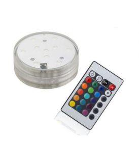 Υποβρύχια πολύχρωμη φωτορυθμική λαμπα RGB LED, με τηλεκοντρόλ - A18C6 ΟΕΜ