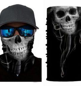Μπαλακλάβα unisex, μάσκα λαιμού με φιγούρα Scary Smoked Ghost - SSG3636 OEM