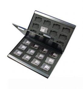 Μεταλλική θήκη φύλαξης μεταφοράς 24 καρτών μνήμης microSD TF - MC24 OEM