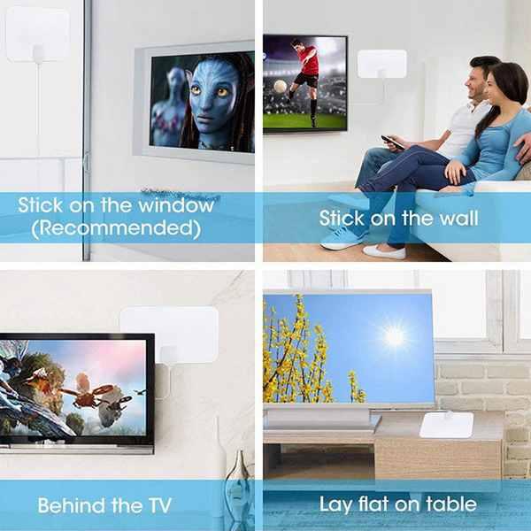 Αυτοκόλλητη κεραία τηλεόρασης TV ANTENNA εσωτερικής και εξωτερικής λήψης - DC69 OEM