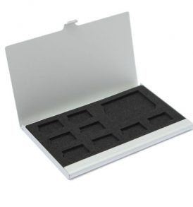 Μεταλλική θήκη φύλαξης μεταφοράς 9 καρτών μνήμης 8 microSD + 1SD  - MC09 OEM