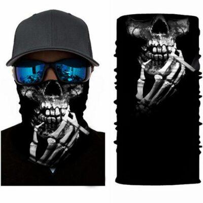 Μπαλακλάβα unisex 3D, μάσκα λαιμού με σχέδιο σκελετό και τσιγάρο - SKSM40 OEM