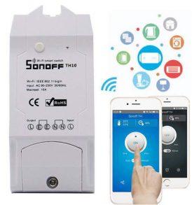 WIFI Διακόπτης με θερμόμετρο υγρασιόμετρο για έλεγχο ηλεκτρικών συσκευών - ΤΗ16 SONOFF