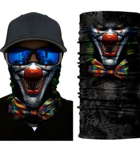 Μπαλακλάβα unisex 3D, μάσκα λαιμού με σχέδιο Scary Cosmic Clown - SCCL1 OEM