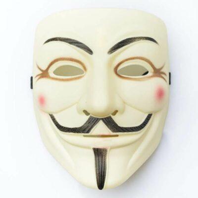 Μάσκα με λάστιχο unisex με φιγούρα απο ταινία Guy Fawkes Anonymous  - A203 OEM