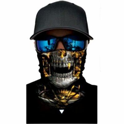 Μπαλακλάβα unisex 3D, μάσκα λαιμού με σχέδιο Golden Horror Skull - GHS07 OEM