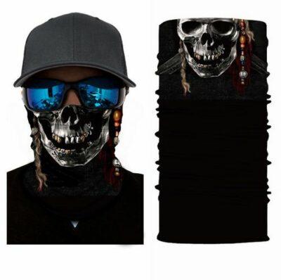 Μπαλακλάβα unisex 3D, μάσκα λαιμού με σχέδιο Scary Skull Pirate - SSKP5 OEM
