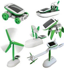 Σετ συναρμολογούμενου Robot παιχνιδιού ηλιακής ενέργειας με πάνελ 6 σε 1- SP6 OEM