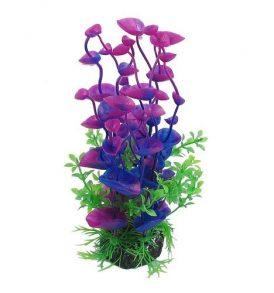 Διακοσμητικό φυτό ενυδρείου 21cm σε βαθυ μπλε και πορφυρό  - Saneria ZN210C