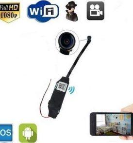 Αυτόνομη μίνι κρυφή ασύρματη κάμερα ψείρα WiFi Micro Module SD DVR Spy Cam - MD81SW OEM