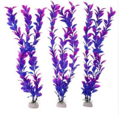 Διακοσμητικό φυτό ενυδρείου 26cm σε βαθυ μπλε και πορφυρό  - Purplundium C26M