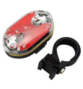Σούπερ ισχυρό πίσω φως ποδηλάτου με 9 LED και 7 επιλογές λειτουργίας - JRT02 OEM