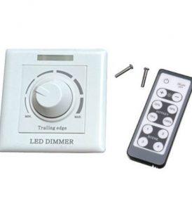 Ασύρματος Ροοστάτης Dimmer για LED μέχρι 300W λευκό με τηλεκοντρόλ - TGG008 OEM