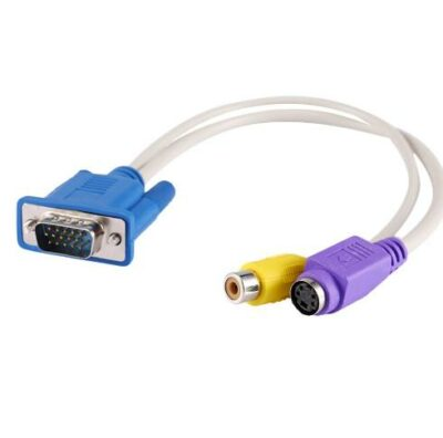 Καλώδιο αντάπτορας μετατροπέας VGA /SVGA προς S-Video 1 RCA  -  SEWA01 OEM