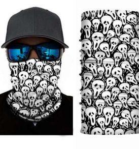 Μπαλακλάβα unisex μάσκα λαιμού με σχέδιο White Scream Ghosts - WSG02 OEM