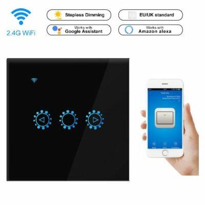 WiFi Ασύρματος Ροοστάτης Smart Dimmer για LED με πανελ αφής, Android Ios  - GANG03 OEM