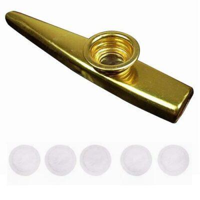 Kazoo μαζί με 5+1 μεμβράνες Μουσικό πνευστό όργανο μεταλλικό ΚΑΖΟΥ  - ΚΖ051 OEM