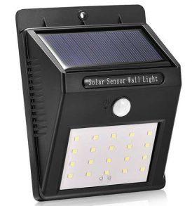 Ηλιακό φως με αισθητήρα κίνησης με 20 LED για είσοδο οικίας και κήπο - SPL20 OEM