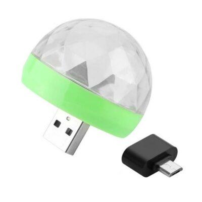 Φορητό RGB LED φωτορυθμικό προσαρμογή σε τηλέφωνο powerbank πρίζα - SMRGB4 OEM