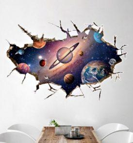 3D Αυτοκόλλητο τοίχου τρισδιάστατο με πλανήτες και διάστημα - 3DPLSP96 OEM