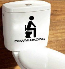 Αυτοκόλλητο τοίχου κατάλληλο και για καζανάκι τουαλέτας Downloading - DNL1315 OEM