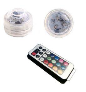 Υποβρύχια ρυθμιζόμενου χρώματος φωτισμού λάμπα RGB 3 LED, με τηλεκοντρόλ - A22 OEM