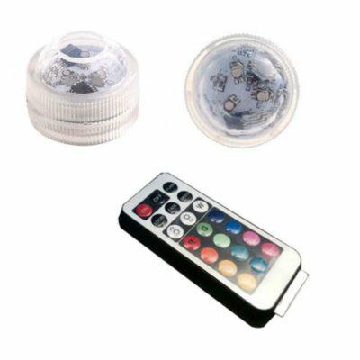 1 υποβρύχια λάμπα με τηλεκοντρόλ ρυθμιζόμενου χρώματος φωτισμού RGB 3 LED, 2- A22 OEM