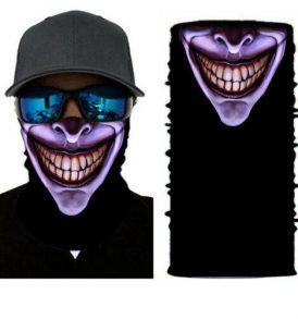 Μπαλακλάβα unisex 3D, μάσκα λαιμού με σχέδιο  Scary Neon Clown SCNCLN01 OEM