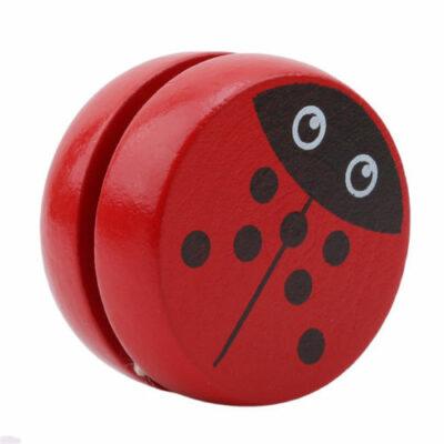 Παιχνίδι γιογιό ξύλινο με σχήμα που απεικονίζει πασχαλίτσα Wooyoyo102 - OEM