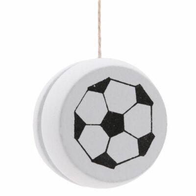 Παιχνίδι γιογιό ξύλινο με σχήμα που απεικονίζει μπάλα ποδοσφαίρου Wooyoyo101 - OEM