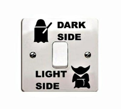 Αυτοκόλλητο τοίχου κατάλληλο για διακόπτη φωτός Light Dark Side - STARW626 OEM
