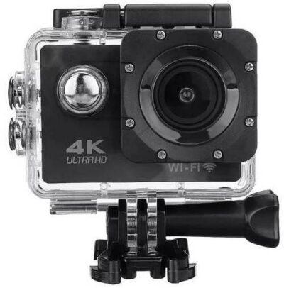 Μαύρη Wifi 4K Action Camera UltraHD Sport Αδιάβροχη με 2'' LCD οθόνη A67984 + Φορτιστής δώρο -  SJ9000 OEM