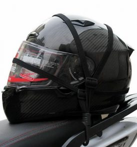 Ελαστικός ιμάντας με γάντζους κατάλληλος για πρόσδεση κράνους μοτοσυκλέτας - PO1 OEM