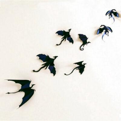 Αυτοκόλλητο τοίχου με 7 διαφορετικούς ιπτάμενους δράκους Fly Dragon - FLD007 OEM