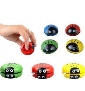 Παιχνίδι παιδικό γιογιό ξύλινο με σχέδιο χαριτωμένο ζουζούνι YoYo cute bug - WYB04 OEM