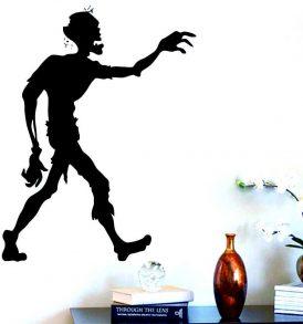 Αυτοκόλλητο τοίχου horror splatter από ταινία Τρόμου Walking Zombie - WDZ7053 OEM