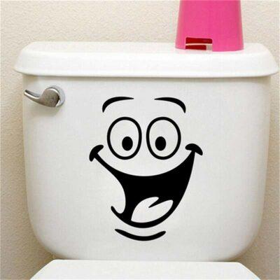 Αυτοκόλλητο τοίχου κατάλληλο και για καζανάκι ή ντουλάπι SmileFace - SML2418 OEM