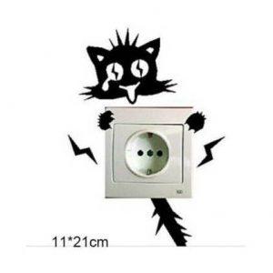 Αυτοκόλλητο τοίχου κατάλληλο για διακόπτη φωτός γάτα Voltage Cat  - BPC211 OEM