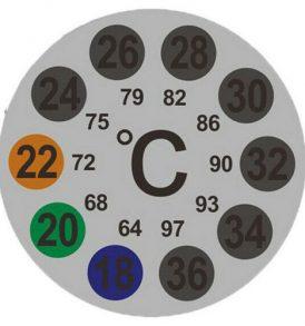 Αυτοκόλλητο κυκλικό θερμόμετρο για χρήση στο τζάμι του ενυδρείου - TKDC24 OEM