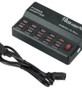 10 Χ USB 12A Πολυφορτιστής πρίζας για όλες τις φορητές συσκευές / τηλέφωνα - W838 OEM
